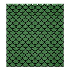 Scales1 Black Marble & Green Denim Shower Curtain 66  X 72  (large)