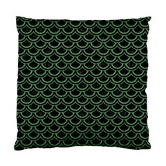 Scales2 Black Marble & Green Denim (r) Standard Cushion Case (two Sides)