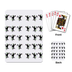Floral Monkey With Hairstyle Playing Card