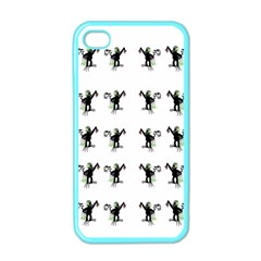 Floral Monkey With Hairstyle Apple Iphone 4 Case (color)