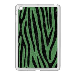 Skin4 Black Marble & Green Denim (r) Apple Ipad Mini Case (white)