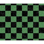 SQUARE1 BLACK MARBLE & GREEN DENIM Deluxe Canvas 14  x 11  14  x 11  x 1.5  Stretched Canvas