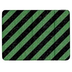Stripes3 Black Marble & Green Denim (r) Samsung Galaxy Tab 7  P1000 Flip Case