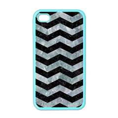 Chevron3 Black Marble & Ice Crystals Apple Iphone 4 Case (color)