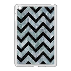Chevron9 Black Marble & Ice Crystals Apple Ipad Mini Case (white)
