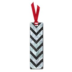 Chevron9 Black Marble & Ice Crystals Small Book Marks