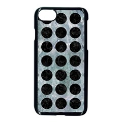 Circles1 Black Marble & Ice Crystals Apple Iphone 8 Seamless Case (black)