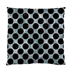 Circles2 Black Marble & Ice Crystals Standard Cushion Case (one Side)