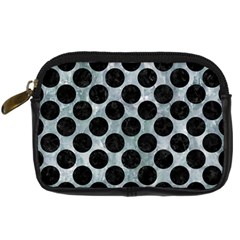 Circles2 Black Marble & Ice Crystals Digital Camera Cases