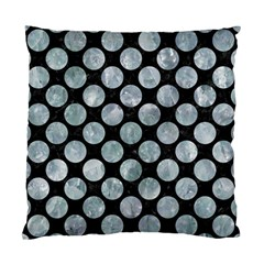 Circles2 Black Marble & Ice Crystals (r) Standard Cushion Case (two Sides)
