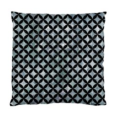 Circles3 Black Marble & Ice Crystals Standard Cushion Case (one Side)