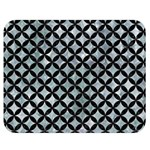 CIRCLES3 BLACK MARBLE & ICE CRYSTALS Double Sided Flano Blanket (Medium)  60 x50 Blanket Back