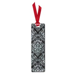 Damask1 Black Marble & Ice Crystals (r) Small Book Marks