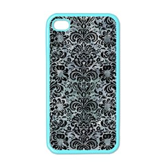 Damask2 Black Marble & Ice Crystals Apple Iphone 4 Case (color)