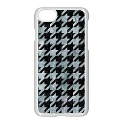 Houndstooth1 Black Marble & Ice Crystals Apple Iphone 8 Seamless Case (white)