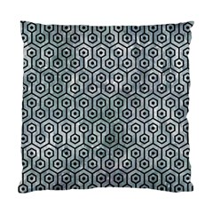 Hexagon1 Black Marble & Ice Crystals Standard Cushion Case (two Sides)