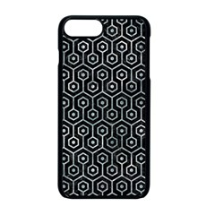 Hexagon1 Black Marble & Ice Crystals (r) Apple Iphone 8 Plus Seamless Case (black)