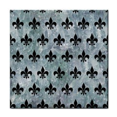 Royal1 Black Marble & Ice Crystals (r) Face Towel