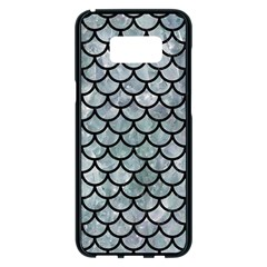 Scales1 Black Marble & Ice Crystals Samsung Galaxy S8 Plus Black Seamless Case