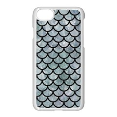 Scales1 Black Marble & Ice Crystals Apple Iphone 8 Seamless Case (white)