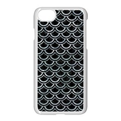 Scales2 Black Marble & Ice Crystals (r) Apple Iphone 8 Seamless Case (white)