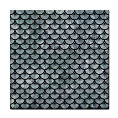 Scales3 Black Marble & Ice Crystals Face Towel