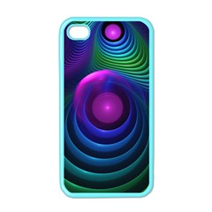 Beautiful Rainbow Marble Fractals In Hyperspace Apple Iphone 4 Case (color)