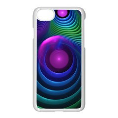 Beautiful Rainbow Marble Fractals In Hyperspace Apple Iphone 8 Seamless Case (white)