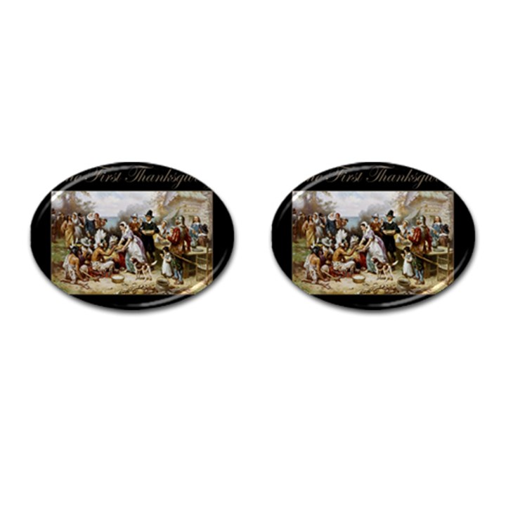 The First Thanksgiving Cufflinks (Oval)