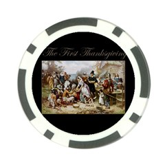 The First Thanksgiving Poker Chip Card Guard (10 Pack)