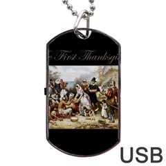 The First Thanksgiving Dog Tag Usb Flash (two Sides)