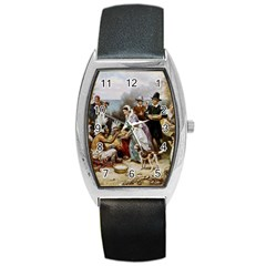 The First Thanksgiving Barrel Style Metal Watch