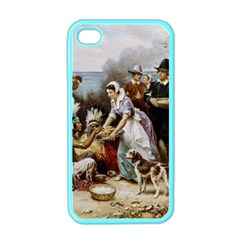 The First Thanksgiving Apple Iphone 4 Case (color)