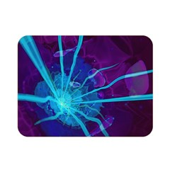 Beautiful Bioluminescent Sea Anemone Fractalflower Double Sided Flano Blanket (mini)