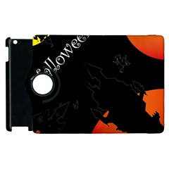 Castil Witch Hlloween Sinister Night Home Bats Apple Ipad 3/4 Flip 360 Case