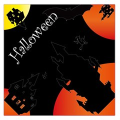Castil Witch Hlloween Sinister Night Home Bats Large Satin Scarf (square)
