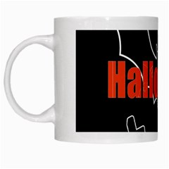 Halloween Bat Black Night Sinister Ghost White Mugs