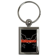 Halloween Bat Black Night Sinister Ghost Key Chains (rectangle)