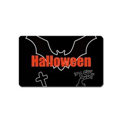Halloween Bat Black Night Sinister Ghost Magnet (name Card)
