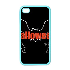 Halloween Bat Black Night Sinister Ghost Apple Iphone 4 Case (color)