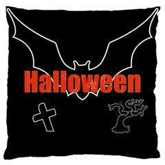 Halloween Bat Black Night Sinister Ghost Large Cushion Case (one Side)