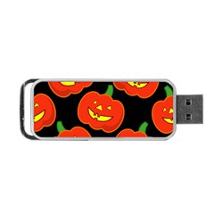 Halloween Party Pumpkins Face Smile Ghost Orange Black Portable Usb Flash (one Side)