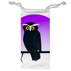 Halloween Owl Bird Animals Night Jewelry Bag
