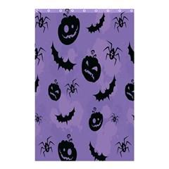 Halloween Pumpkin Bat Spider Purple Black Ghost Smile Shower Curtain 48  X 72  (small)