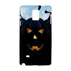 Halloween Pumpkin Dark Face Mask Smile Ghost Night Samsung Galaxy Note 4 Hardshell Case