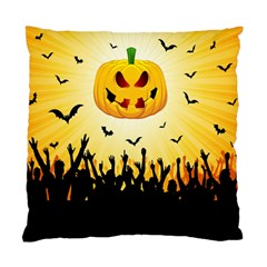 Halloween Pumpkin Bat Party Night Ghost Standard Cushion Case (two Sides)