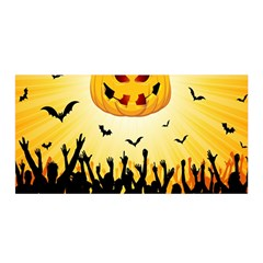 Halloween Pumpkin Bat Party Night Ghost Satin Wrap