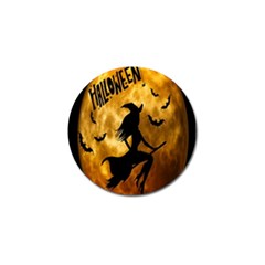 Halloween Wicked Witch Bat Moon Night Golf Ball Marker (10 Pack)