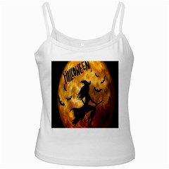 Halloween Wicked Witch Bat Moon Night Ladies Camisoles