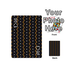 Halloween Zigzag Vintage Chevron Ornamental Cute Polka Dots Playing Cards 54 (mini)